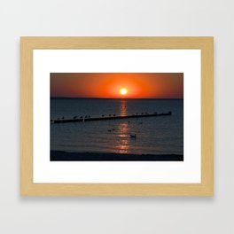 Holy sunset on the Baltic Sea Framed Art Print