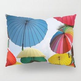 A Shower of Rainbow Coloured Umbrellas Pillow Sham