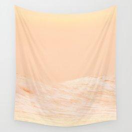 Ocean Waves Peach Wall Tapestry