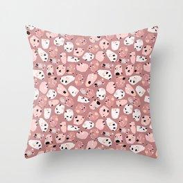 rose terrazzo Throw Pillow