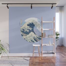 Great Wave Eruption Wall Mural