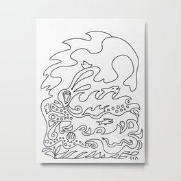The Happy Aquatic Life Metal Print