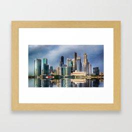 Singapore Skyline Framed Art Print