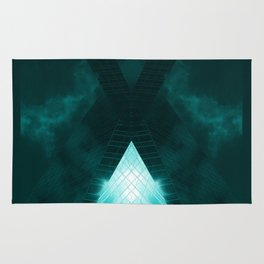Turquoise skyscraper mill V WH Rug