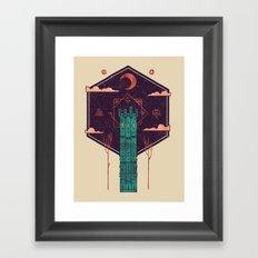 The Tower Azure Framed Art Print