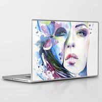 lunar Laptop & iPad Skins featuring lunar mistery by Cora-Tiana