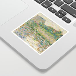The Seine at Courbevoie, Georges Seurat Sticker