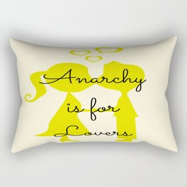 Anarchy is for Lovers Rectangular Pillow
