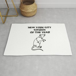 NYC Citizen of the Year Rat Rug