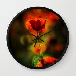 Poppy III. Wall Clock