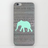 mint iPhone & iPod Skins featuring Mint Elephant  by Sunkissed Laughter