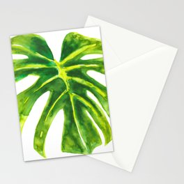 Watercolour Monstera Leaf Stationery Cards
