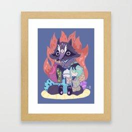 Tanukikitsune Framed Art Print