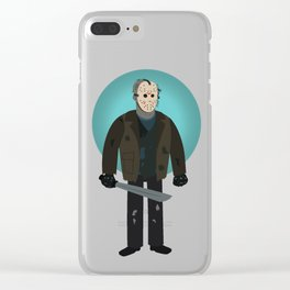 Jason Voorhees (Freddy vs Jason style) Clear iPhone Case