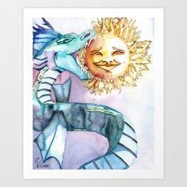 Eclipse Dragon Sun Eater Art Print