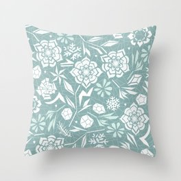 Frozen garden Throw Pillow