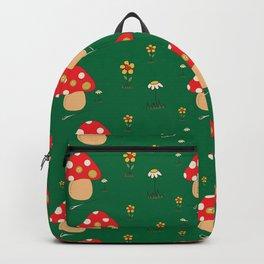 Red Fairy Mushroom Pattern Backpack