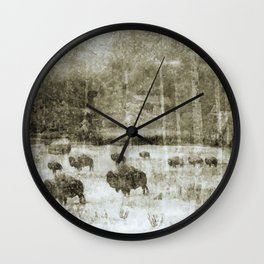 Yellowstone National Park - The Gathering Wall Clock