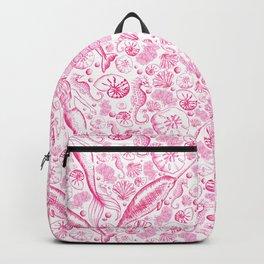 Mermaid Toile - Hot Pink Backpack