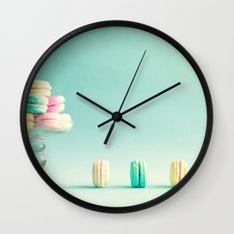 Macarons, macaroons still life, pop art Wall Clock