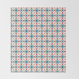 Spanish Tile Pattern Throw Blanket