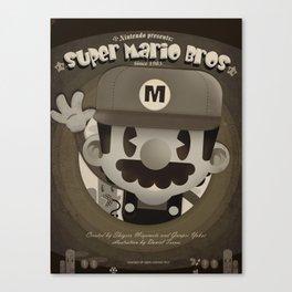 Mario Bros Fan Art Canvas Print