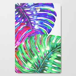 Colorful monstera illustration Cutting Board