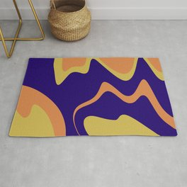 KNICK - bright abstract design orange yellow blue Rug