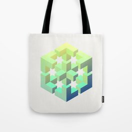 Exploded cube Tote Bag