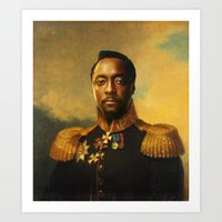 replaceface Art Prints featuring will.i.am - replaceface by replaceface