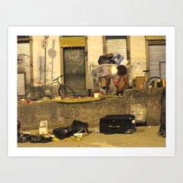 Lapa Wall (Rio de Janeiro, Brazil)   Art Print