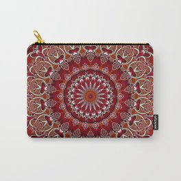 Ruby Red Mandala Carry-All Pouch