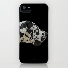 Great Dane Dogue low poly. iPhone Case