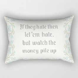 Vintage Inspired Throw Pillow with Rap Lyrics by 50 Cent Rectangular Pillow