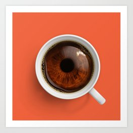 Coffee Eye Art Print
