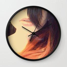 Red in he Dark Wall Clock