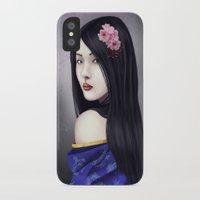 geisha iPhone & iPod Cases featuring Geisha by Gosia