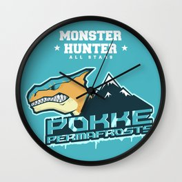 Monster Hunter All Stars - Pokke Permafrosts  Wall Clock