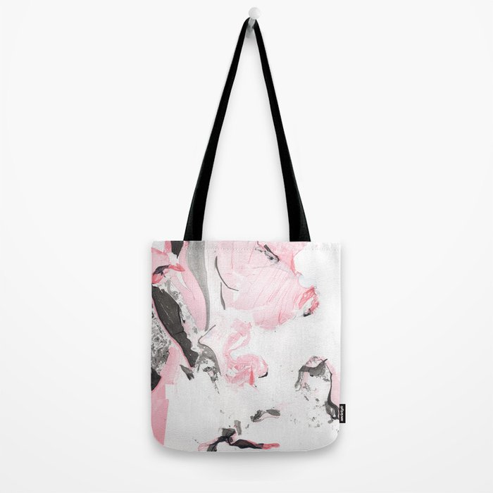 Pink and grey marble Tote Bag