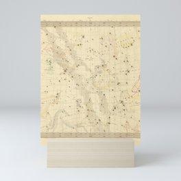 Vintage Map Print - 1853 celestial map - Libra, Sagitarius, Capricorn, Scorpio, etc. Mini Art Print