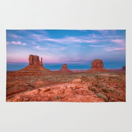 Westward Dreams - Sunset in Monument Valley Rug