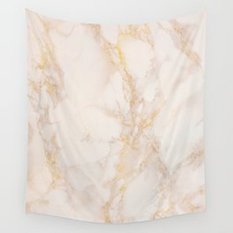 Gold Marble Natural Stone Gold Metallic Veining Beige Quartz Wall Tapestry