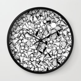 Pawn Storm B&W Wall Clock