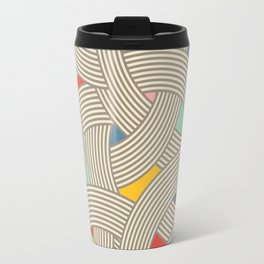 Modern Scandinavian Multi Colour Color Curve Graphic Tonal Travel Mug