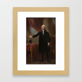 Gilbert Stuart - George Washington (Lansdowne Portrait) Framed Art Print