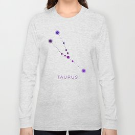TAURUS STAR CONSTELLATION ZODIAC SIGN Long Sleeve T-shirt