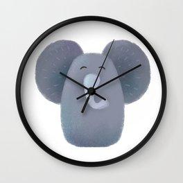 Elephant Nursery Art Wall Clock