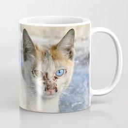 Kitten under a car Coffee Mug