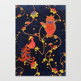 Folk Art Canvas Print