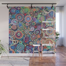 Seeing Stars Abstract  Painting Wall Mural